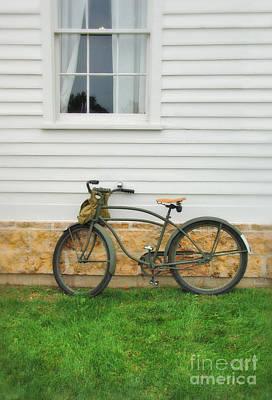 Bicycle By House Print by Jill Battaglia