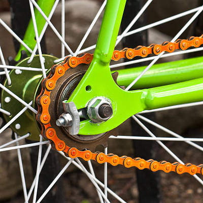 Up-cycling Photograph - Bicycle Wheel by Tom Gowanlock