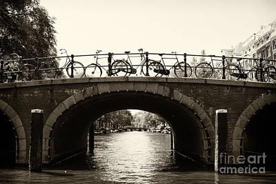 Leda Photograph - Bicycles Of Amsterdam by Leslie Leda
