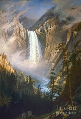 Hudson River School Photograph - Bierstadt: Yellowstone by Granger