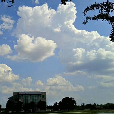 Big Bang What? #creation #clouds #sky Print by Kel Hill