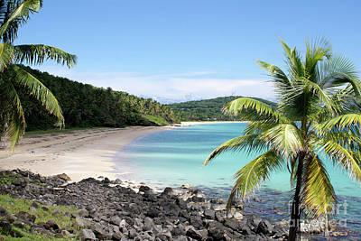 Big Corn Island Beach Nicaragua Print by John  Mitchell