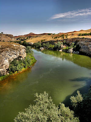 Thermopolis Photograph - Big Horn River by Steven Ainsworth