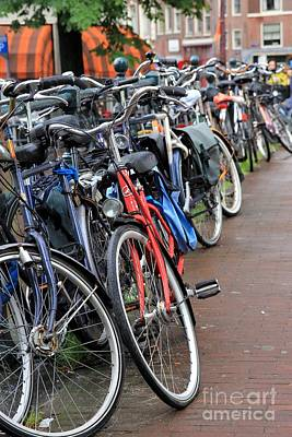 Bike Frenzy Print by Sophie Vigneault