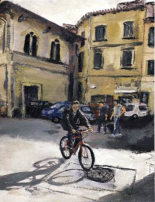 Biker Florencia Print by Randy Sprout