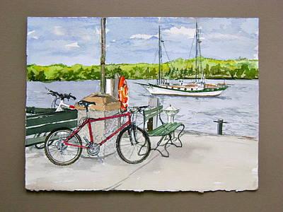 Bikes At Fish Creek Print by Laurel Fredericks