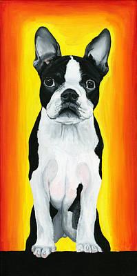Pooch Painting - Billie by Debbie Brown