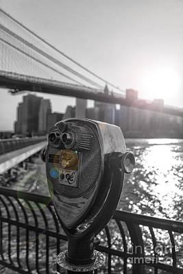 Binoculars Nyc View Print by AHcreatrix