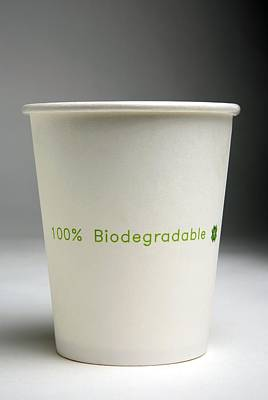 Biodegradable Cup Print by Victor De Schwanberg