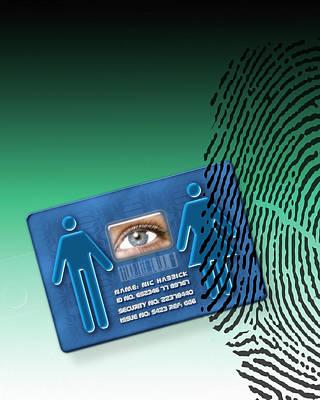 Civil Liberties Photograph - Biometric Id Card by Victor Habbick Visions