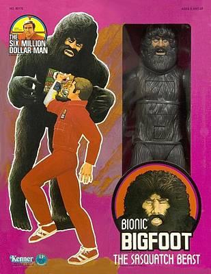 Bionic Bigfoot Print by Paul Van Scott