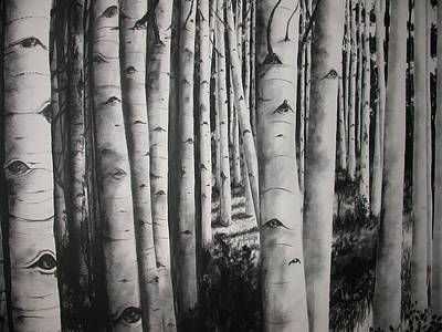 Painting - Birch by Scott Robinson