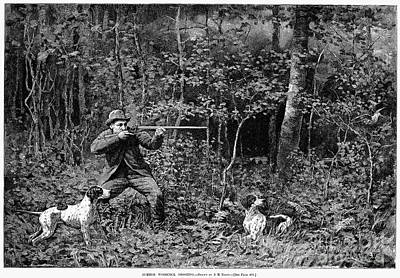 Woodcock Photograph - Bird Shooting, 1886 by Granger