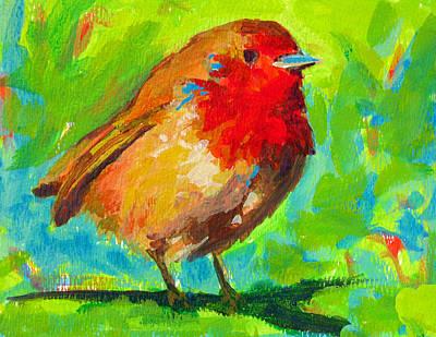Birdie Bird - Robin Print by Patricia Awapara