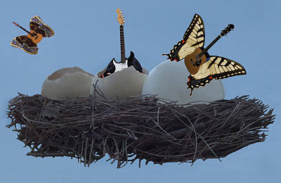 Flying Guitars Digital Art - Birth Of The Guitar by Eric Kempson