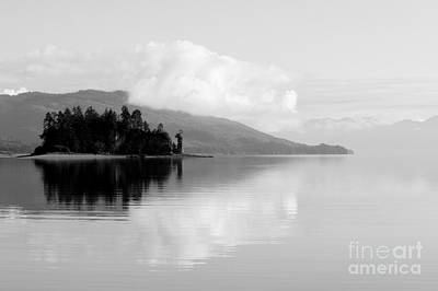 Black And White Island Near Hoonah Print by Darcy Michaelchuk