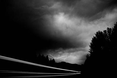 British Columbia Photograph - Black And White Lightning by Don Mann