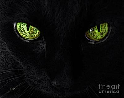 Balck Art Digital Art - Black Cat Mystique by Dale   Ford