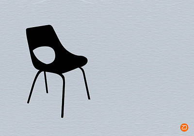 Chairs Digital Art - Black Chair by Naxart Studio