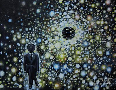 Black Hole Man Print by Shelly Leitheiser