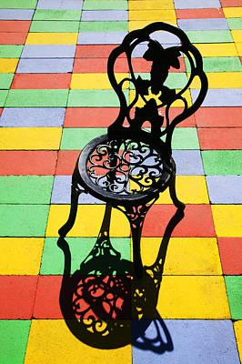 Black Iron Chair Print by Garry Gay