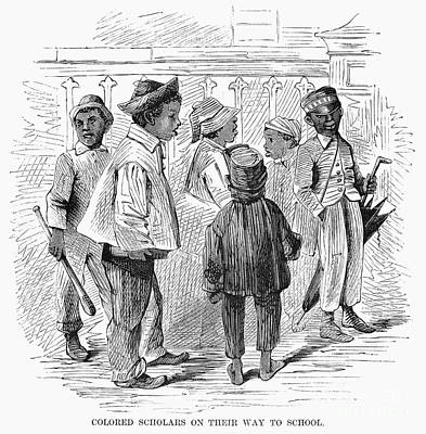 Black School Children Print by Granger