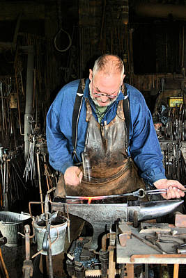 Artist Working Photograph - Blacksmith by Kristin Elmquist
