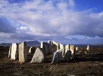 Megalith Photograph - Blacksod Point, Co Mayo, Ireland Stone by The Irish Image Collection