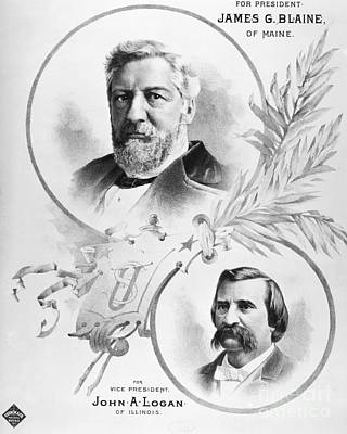 Blaine: Election Of 1884 Print by Granger
