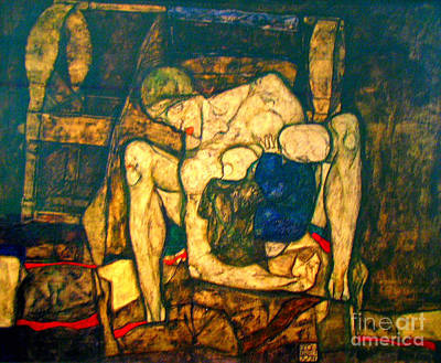 Blind Mother By Egon Schiele Print by Pg Reproductions