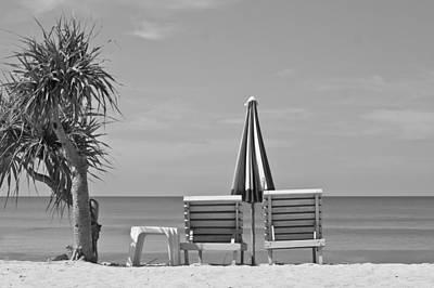 Bliss Is The Beach Print by Georgia Fowler