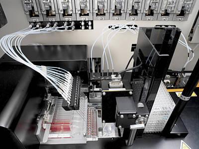 Blood Analysis Machine Print by Tek Image