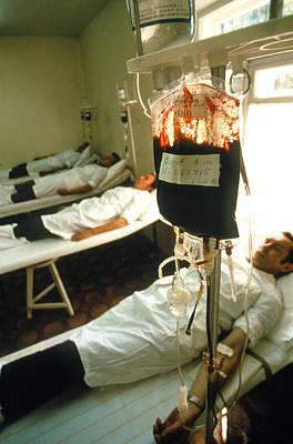 Blood Transfusions Print by Ria Novosti