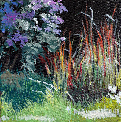 Asters Painting - Bloodgrass And Asters by Melody Cleary