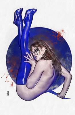 Bloody Girl 2 Print by Marco Turini