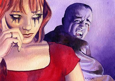 Horror Painting - Bloody Tears by Ken Meyer jr