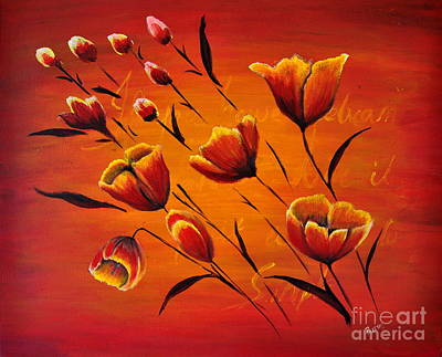 Blooming Flowers Original by Preethi Mathi