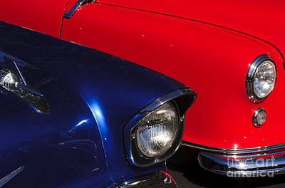 Car Photograph - Blue And Red by Katja Zuske