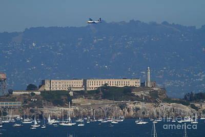 Blue Angels Fat Albert C130t Hercules Over Alcatraz . 7d7930 Print by Wingsdomain Art and Photography