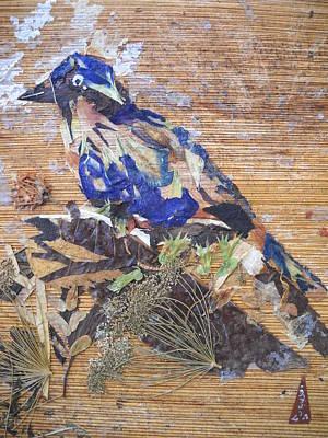 Blue  Bird  Print by Basant Soni