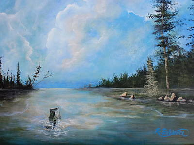 Blue Bird On Sam Rayburn Original by Robert Ballance