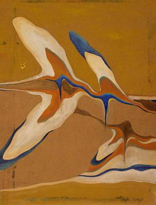 Blue Birds Print by Devin Roberts