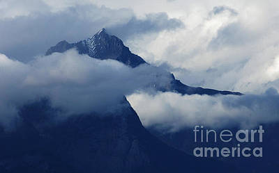 Blue Canadian Rockies Print by Bob Christopher