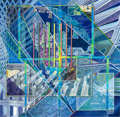 Bucci Painting - Blue City Day by Jane Bucci