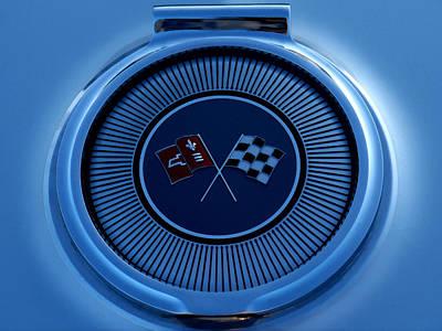 Blue Corvette Badge Print by Douglas Pittman