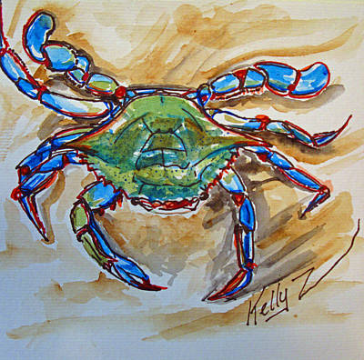 Blue Crab Mixed Media - Blue Crab Blues by Kelly     ZumBerge