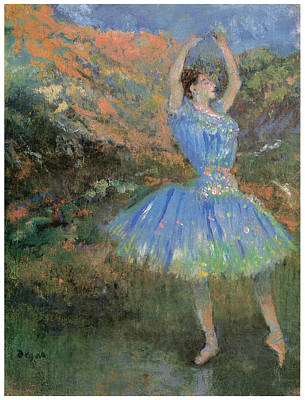 Ballet Painting - Blue Dancer by Edgar Degas