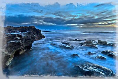 Blue Dawn Print by Debra and Dave Vanderlaan