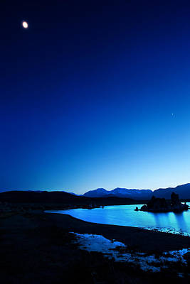 Blue Dusk Mono Lake Print by Sylvia J Zarco