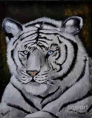 Blue Eyed White Tiger Original by Preethi Mathi